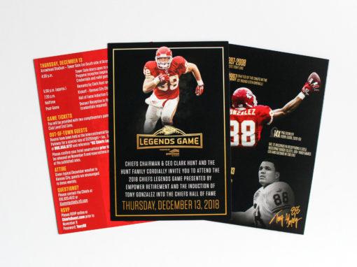 Tony Gonzalez Induction Ceremony | Invites & Graphics
